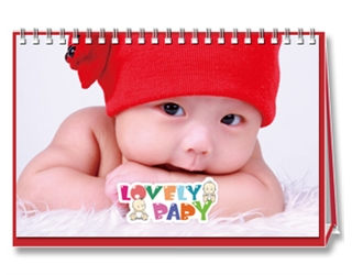 【Lovely Baby】7页台历